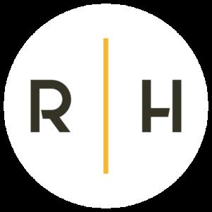 Logo Initiale cercle blanc - Richard Hawke